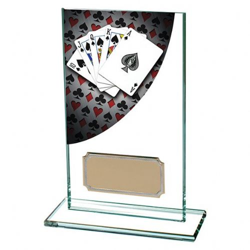 Colour Curve Poker Jade Glass Award 140mm